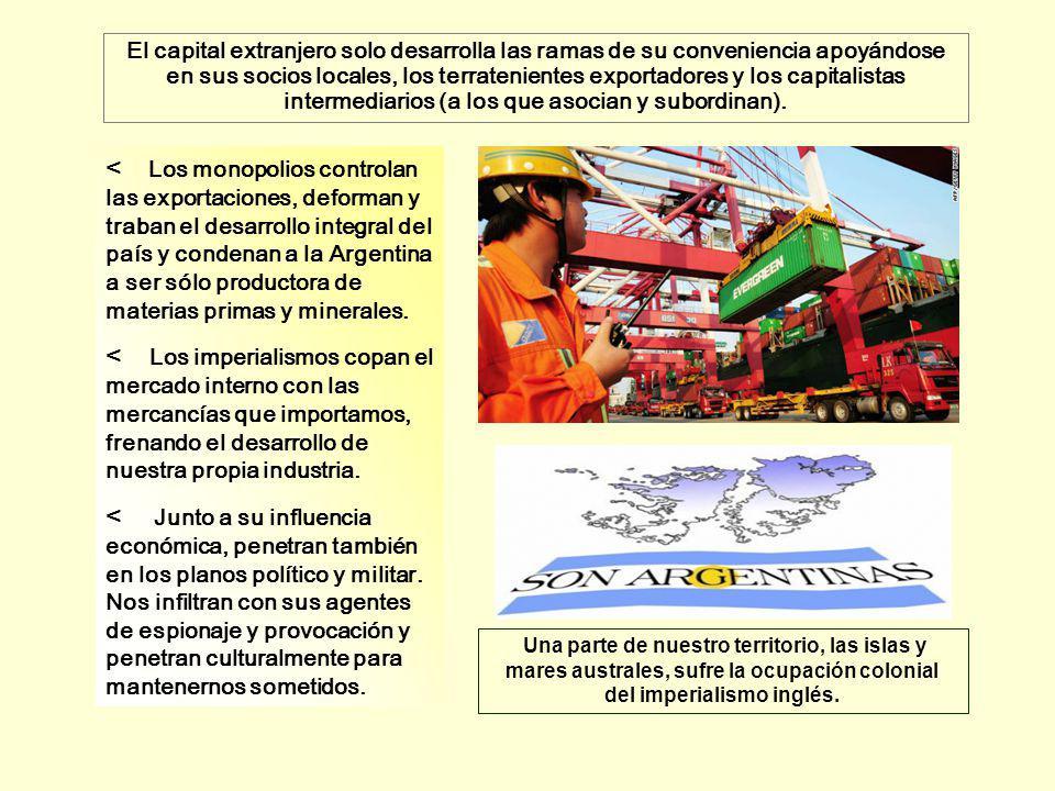 < Los monopolios controlan las exportaciones, deforman y traban el desarrollo integral del país y condenan a la Argentina a ser sólo productora de mat