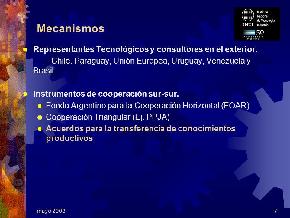 mayo 20097 Mecanismos Representantes Tecnológicos y consultores en el exterior.