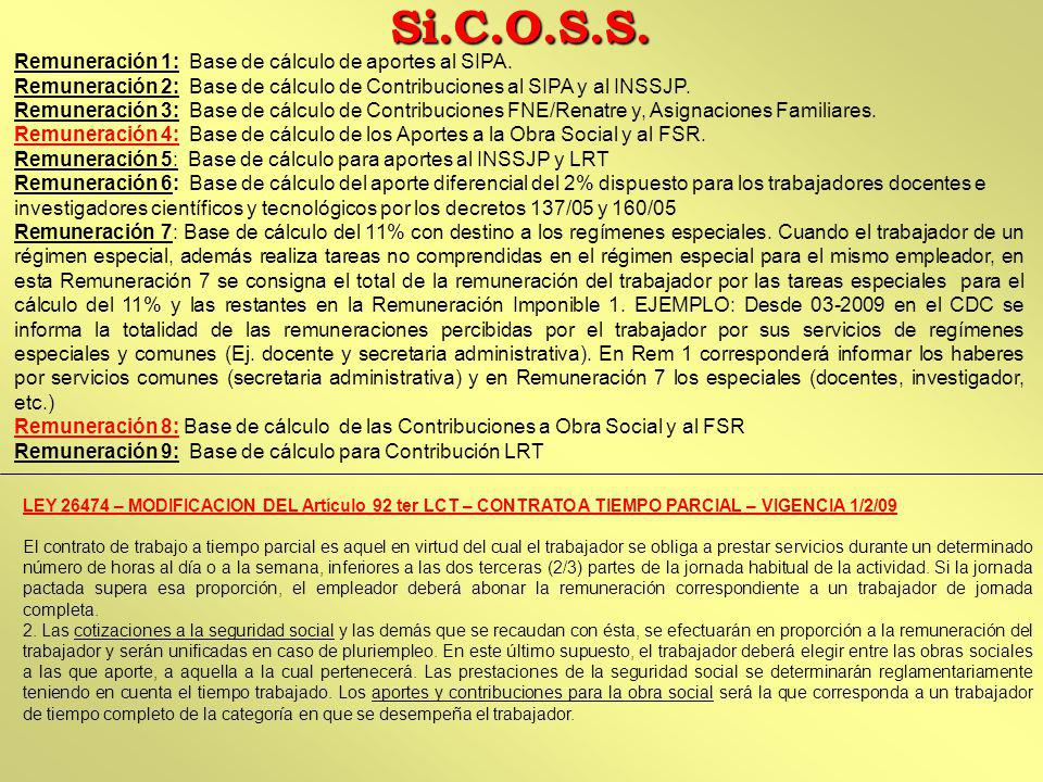 LEY 26474 – MODIFICACION DEL Artículo 92 ter LCT – CONTRATO A TIEMPO PARCIAL – VIGENCIA 1/2/09 El contrato de trabajo a tiempo parcial es aquel en vir