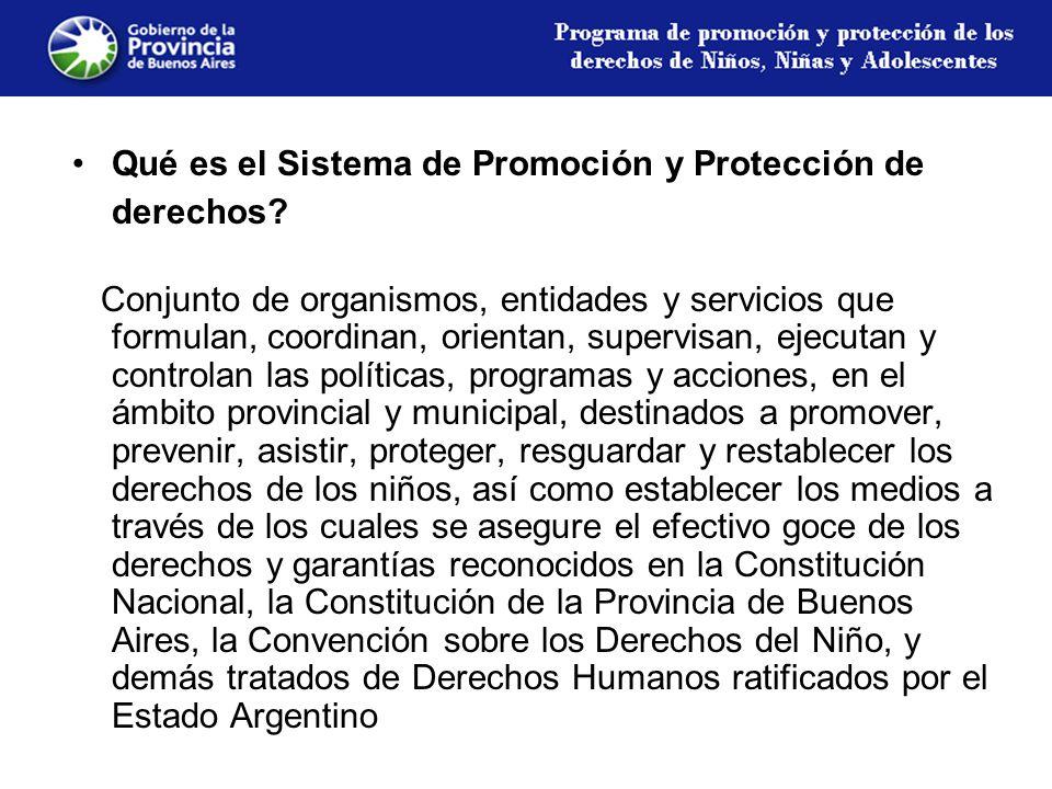 Qué es el Sistema de Promoción y Protección de derechos.
