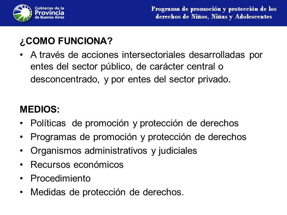 Organismos que componen el Sistema de Promoción y Protección 1.