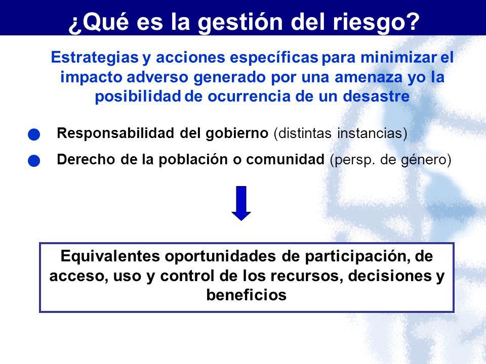 ¿Qué es la gestión del riesgo? Estrategias y acciones específicas para minimizar el impacto adverso generado por una amenaza yo la posibilidad de ocur
