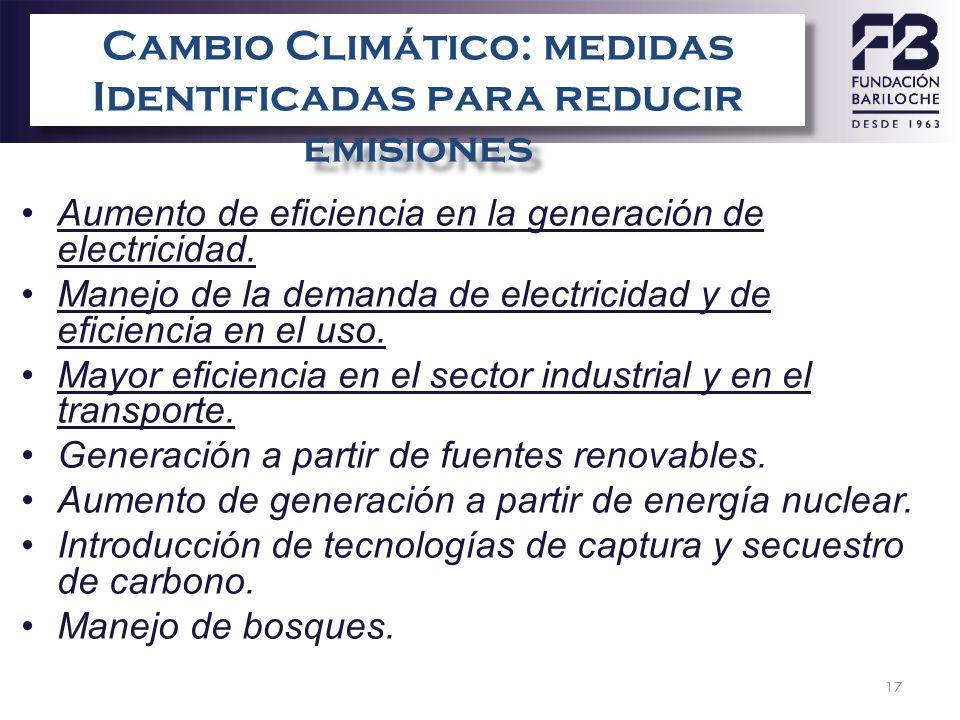 17 Vulnerabilidad de AL&C Aumento de eficiencia en la generación de electricidad. Manejo de la demanda de electricidad y de eficiencia en el uso. Mayo