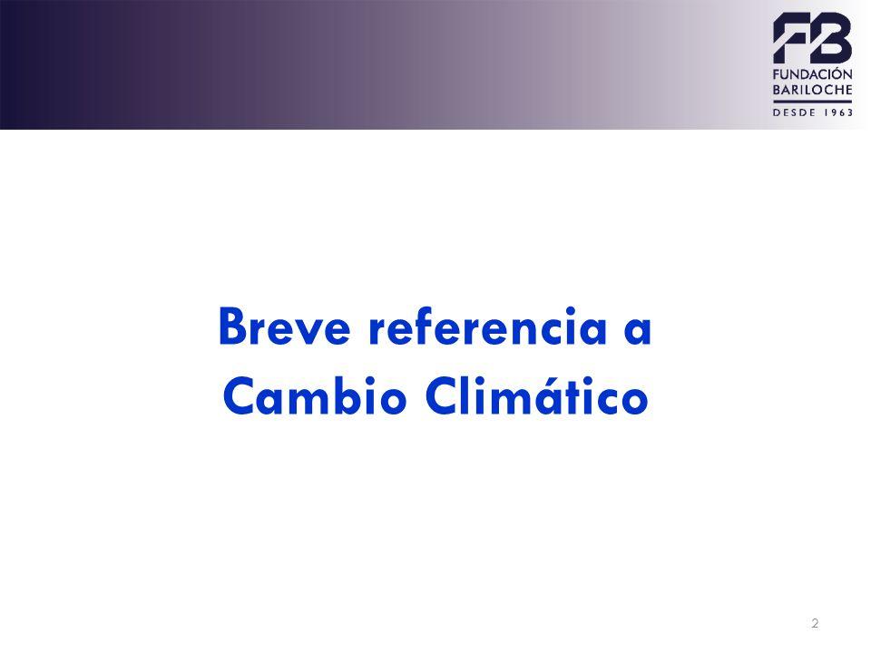 2 Breve referencia a Cambio Climático