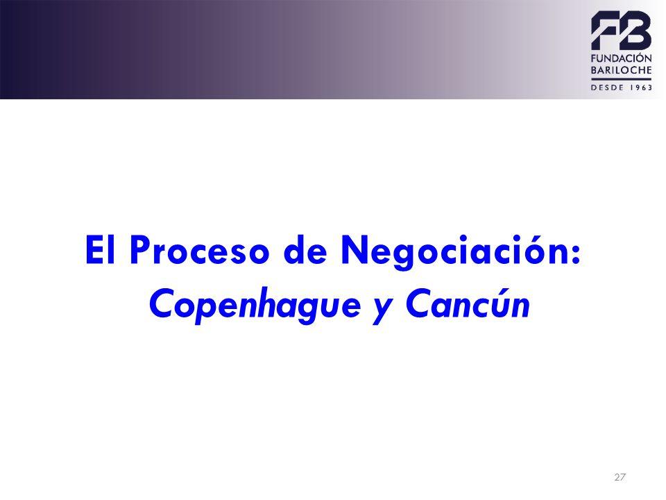 27 El Proceso de Negociación: Copenhague y Cancún