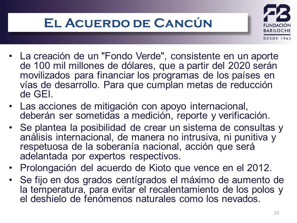 29 El Acuerdo de Cancún La creación de un