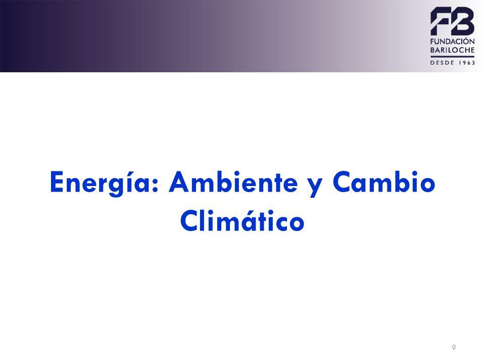 9 Energía: Ambiente y Cambio Climático