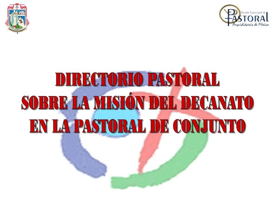 Consejo Pastoral Decanal.Decano, Vice-Decano, Senador, Secretario, Tesorero.