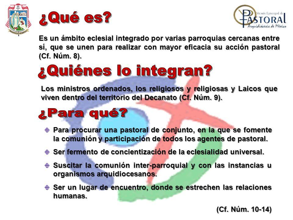Es un ámbito eclesial integrado por varias parroquias cercanas entre sí, que se unen para realizar con mayor eficacia su acción pastoral (Cf. Núm. 8).
