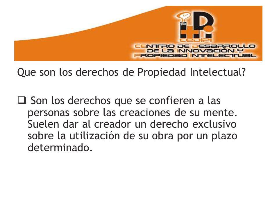 Que son los derechos de Propiedad Intelectual.