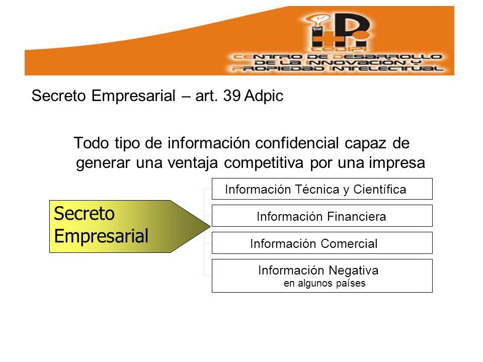 Todo tipo de información confidencial capaz de generar una ventaja competitiva por una impresa.