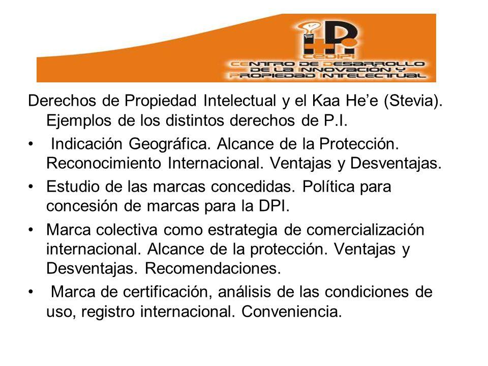 Derechos de Propiedad Intelectual y el Kaa Hee (Stevia).