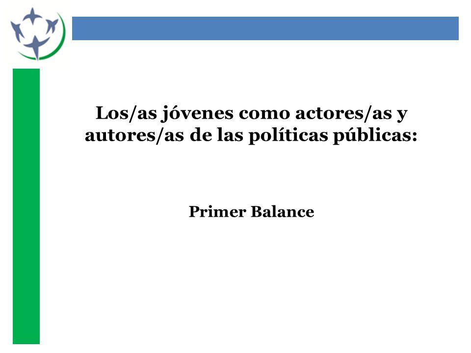 Los/as jóvenes como actores/as y autores/as de las políticas públicas: Primer Balance