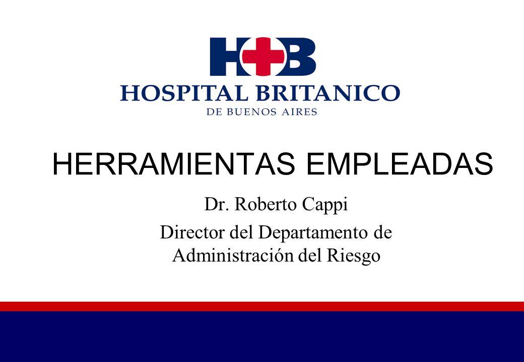 HERRAMIENTAS EMPLEADAS Dr. Roberto Cappi Director del Departamento de Administración del Riesgo
