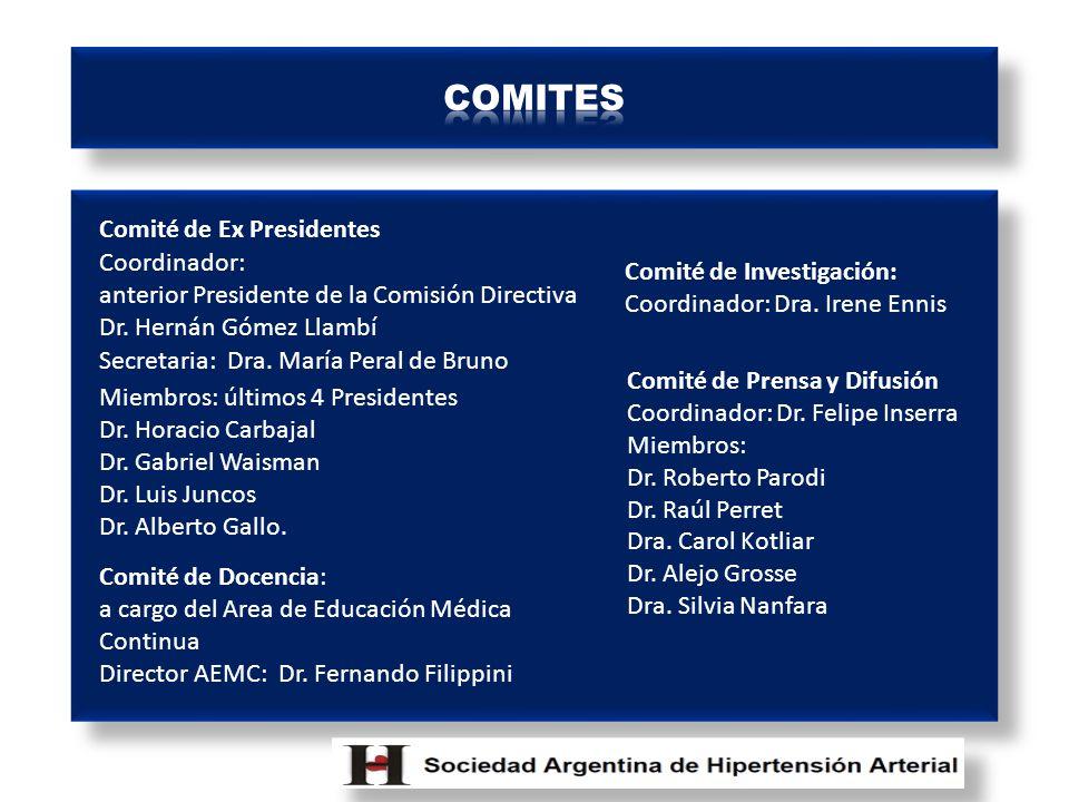 Comité de Ex Presidentes Coordinador: anterior Presidente de la Comisión Directiva Dr.