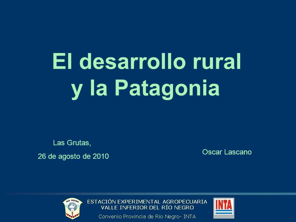 El desarrollo rural y la Patagonia Las Grutas, 26 de agosto de 2010 Oscar Lascano