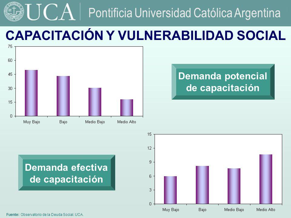 Fuente: Observatorio de la Deuda Social.UCA.