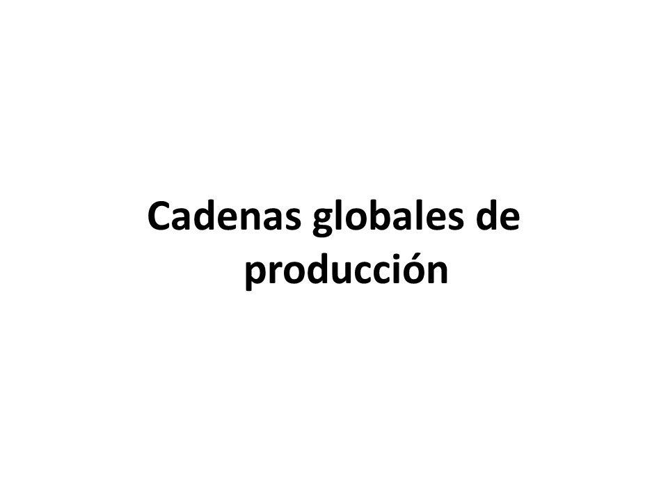 Cadenas globales de producción