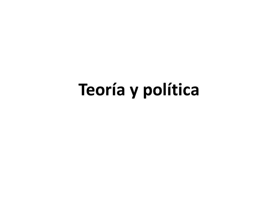 Teoría y política