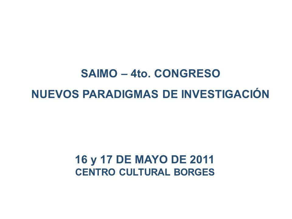 16 y 17 DE MAYO DE 2011 CENTRO CULTURAL BORGES SAIMO – 4to.