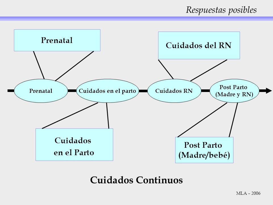 Respuestas posibles PrenatalCuidados en el partoCuidados RN Post Parto (Madre y RN) Prenatal Cuidados del RN Cuidados en el Parto Post Parto (Madre/be