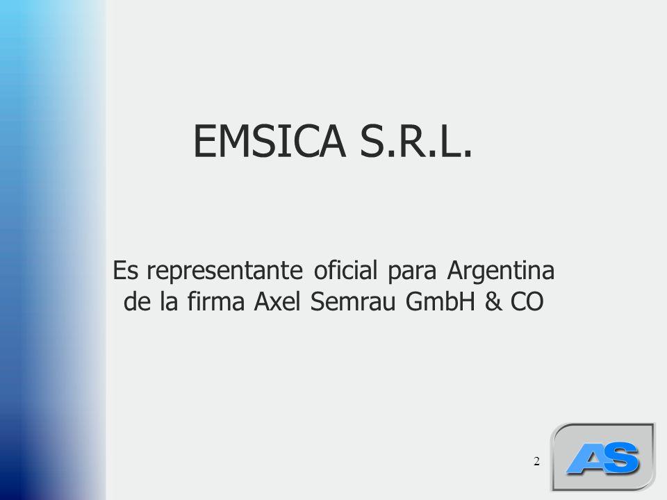 2 EMSICA S.R.L. Es representante oficial para Argentina de la firma Axel Semrau GmbH & CO