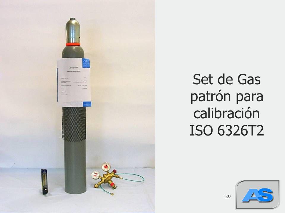29 Set de Gas patrón para calibración ISO 6326T2