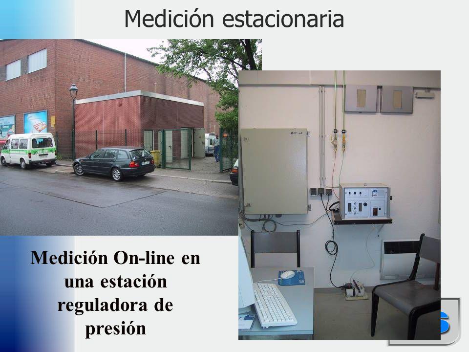 39 Medición estacionaria Medición On-line en una estación reguladora de presión