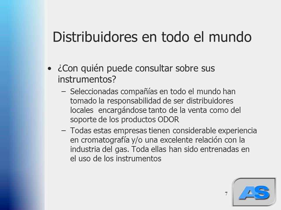 7 Distribuidores en todo el mundo ¿Con quién puede consultar sobre sus instrumentos.