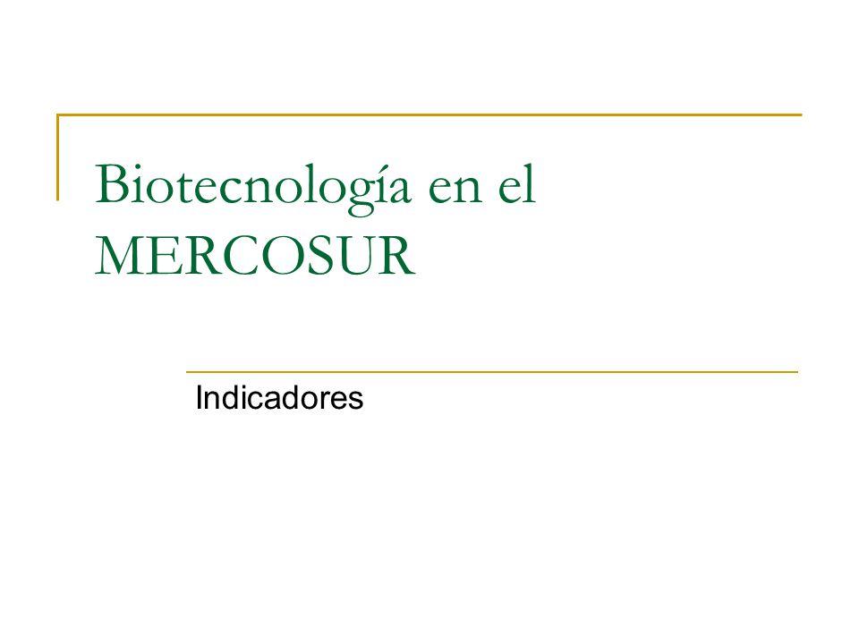 Biotecnología en el MERCOSUR Indicadores