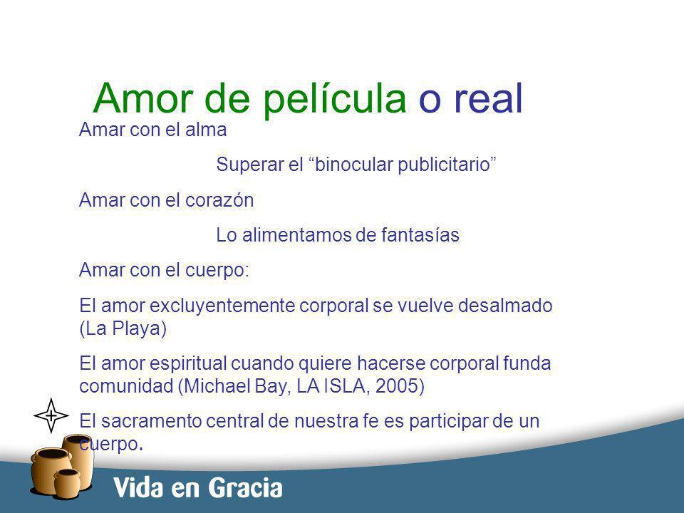 restevez@domingo.org.ar11 Amor de película o real Amar con el alma Superar el binocular publicitario Amar con el corazón Lo alimentamos de fantasías A
