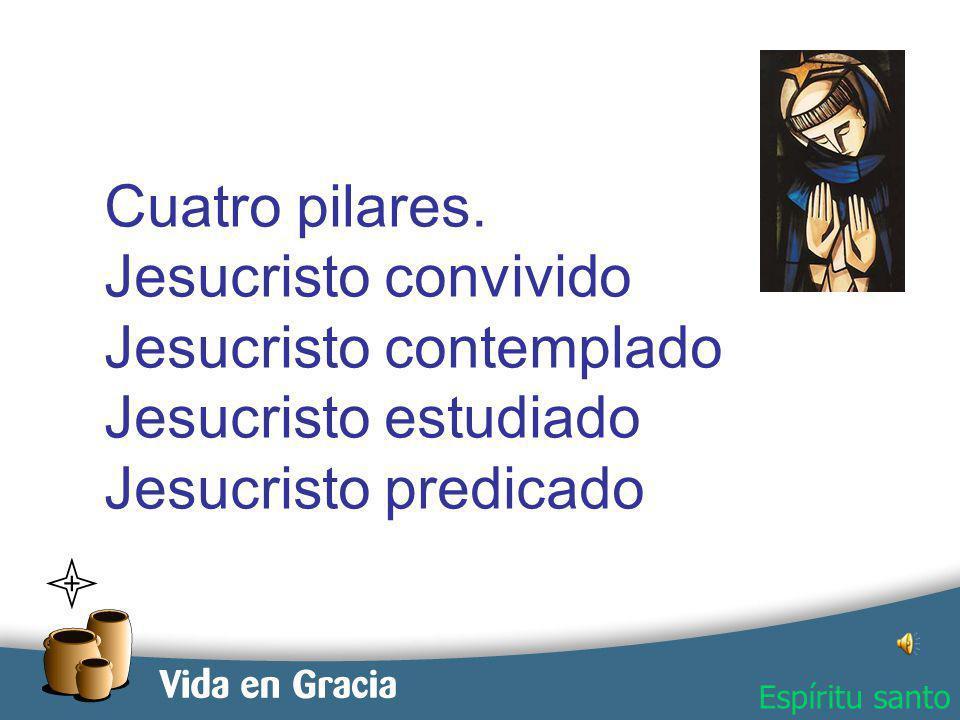 restevez@domingo.org.ar2 Cuatro pilares. Jesucristo convivido Jesucristo contemplado Jesucristo estudiado Jesucristo predicado Espíritu santo