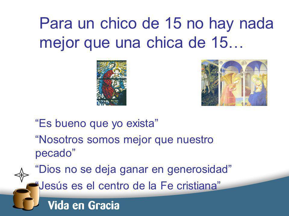 restevez@domingo.org.ar7 Para un chico de 15 no hay nada mejor que una chica de 15… Es bueno que yo exista Nosotros somos mejor que nuestro pecado Dios no se deja ganar en generosidad Jesús es el centro de la Fe cristiana