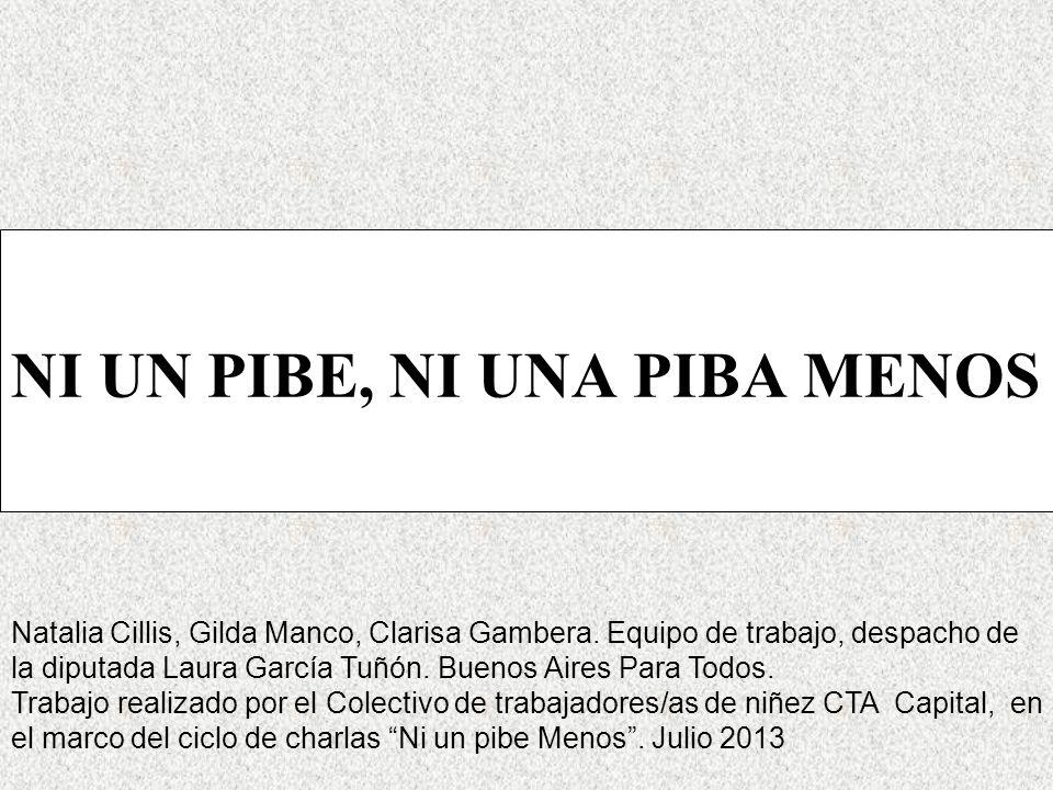 NI UN PIBE, NI UNA PIBA MENOS Natalia Cillis, Gilda Manco, Clarisa Gambera.