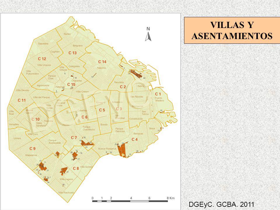 VILLAS Y ASENTAMIENTOS DGEyC. GCBA. 2011