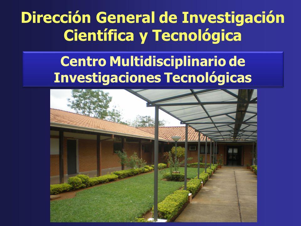 Centro Multidisciplinario de Investigaciones Tecnológicas Dirección General de Investigación Científica y Tecnológica