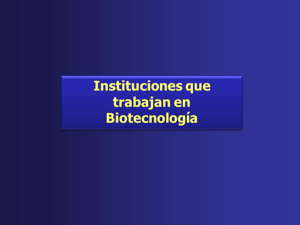 Instituciones que trabajan en Biotecnología