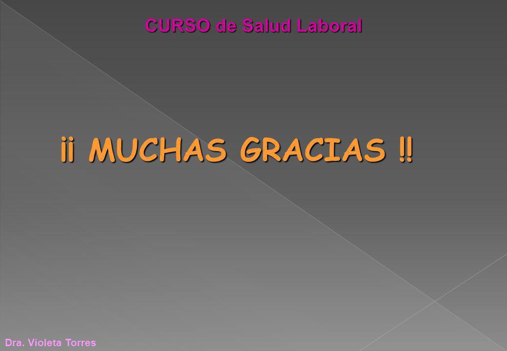 ¡¡ MUCHAS GRACIAS !! Dra. Violeta Torres CURSO de Salud Laboral
