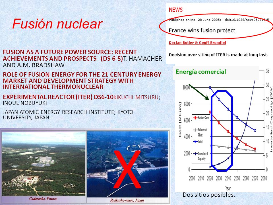 Energía comercial Fusión nuclear FUSION AS A FUTURE POWER SOURCE: RECENT ACHIEVEMENTS AND PROSPECTS (DS 6-5)T.