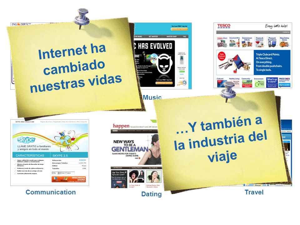 Shop MusicBank Communication Travel Dating …Y también a la industria del viaje Internet ha cambiado nuestras vidas