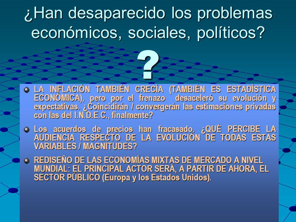 Lic. Germán Alvarez Vidal CPCENeuquén 2008 ¿Han desaparecido los problemas económicos, sociales, políticos? ? LA INFLACIÓN TAMBIÉN CRECÍA (TAMBIÉN ES