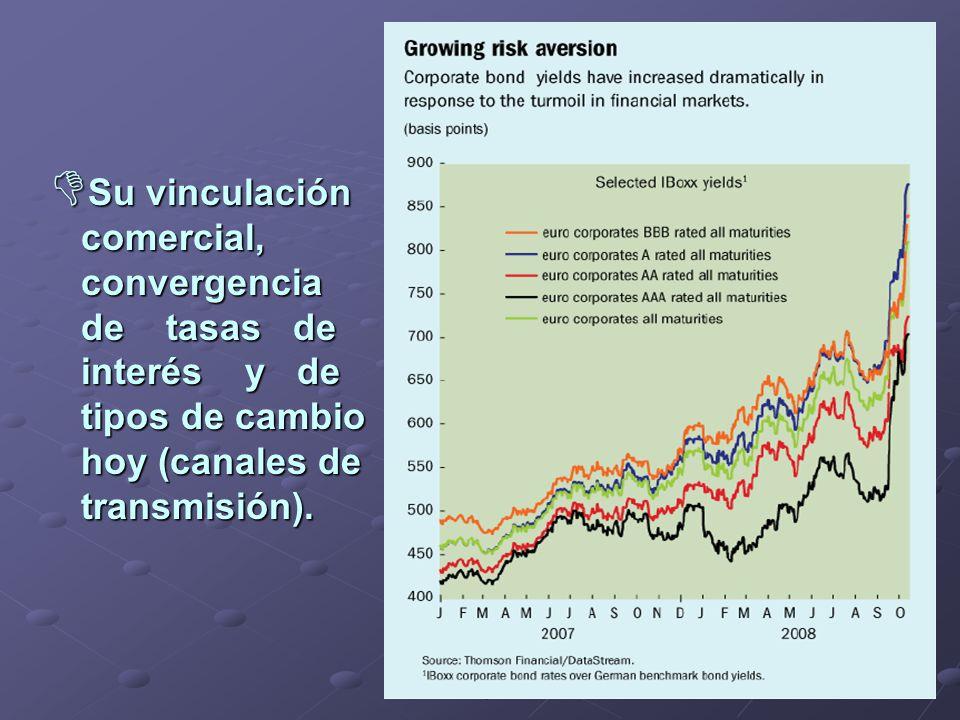 Lic. Germán Alvarez Vidal CPCENeuquén 2008 Su vinculación Su vinculación comercial, comercial, convergencia convergencia de tasas de de tasas de inter