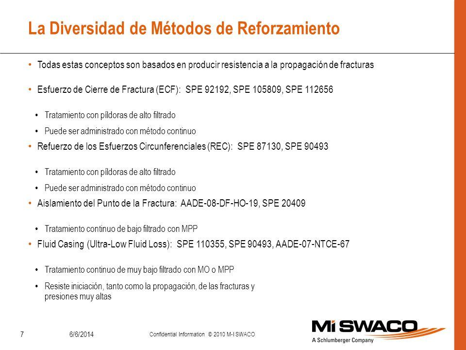 6/6/2014 Confidential Information © 2010 M-I SWACO 7 La Diversidad de Métodos de Reforzamiento Todas estas conceptos son basados en producir resistenc