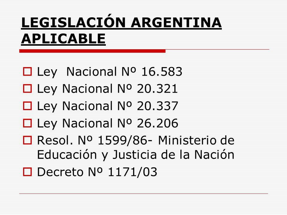 LEGISLACIÓN DE LA PROVINCIA DE CORDOBA APLICABLE Constitución Provincial Ley Nº 7697 Ley Nº 7734 Ley Nº 8569 Res.