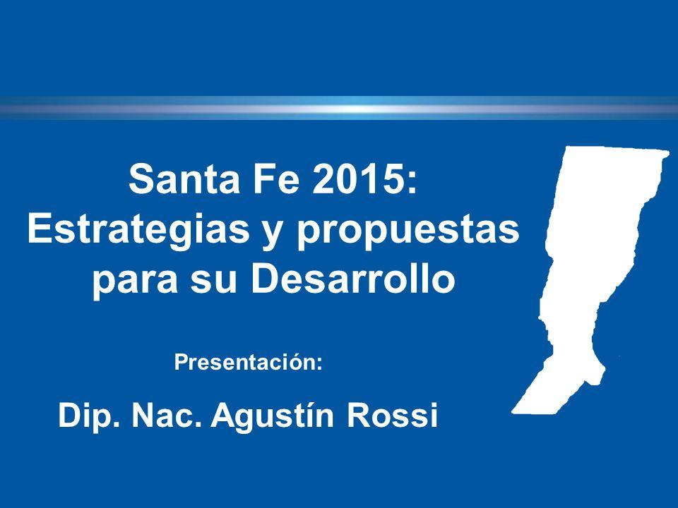 Santa Fe 2015: Estrategias y propuestas para su Desarrollo Presentación: Dip. Nac. Agustín Rossi