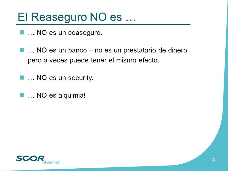 8 … NO es un coaseguro. … NO es un banco – no es un prestatario de dinero pero a veces puede tener el mismo efecto. … NO es un security. … NO es alqui