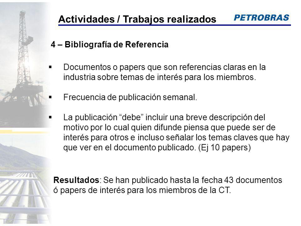 Documentos o papers que son referencias claras en la industria sobre temas de interés para los miembros. Frecuencia de publicación semanal. La publica