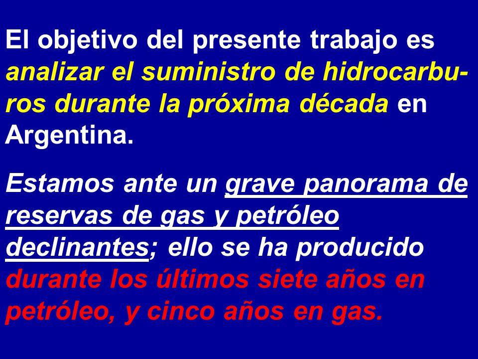 El objetivo del presente trabajo es analizar el suministro de hidrocarbu- ros durante la próxima década en Argentina. Estamos ante un grave panorama d