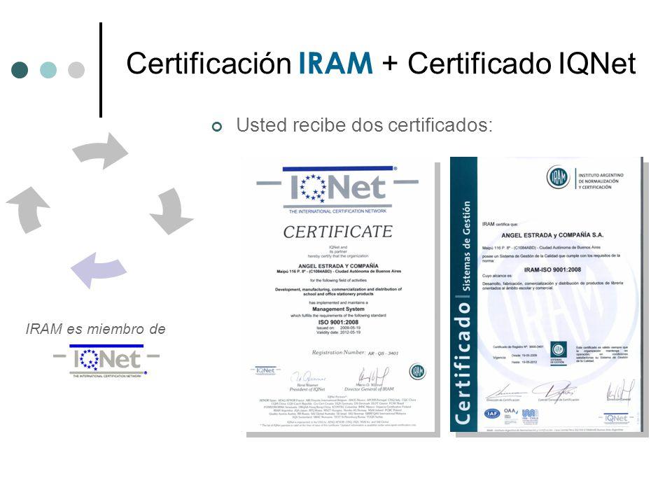 La marca IRAM según terceros IRAM es posicionada año tras año como la certificadora de mas prestigio por los ejecutivos de empresas, dato suministrado