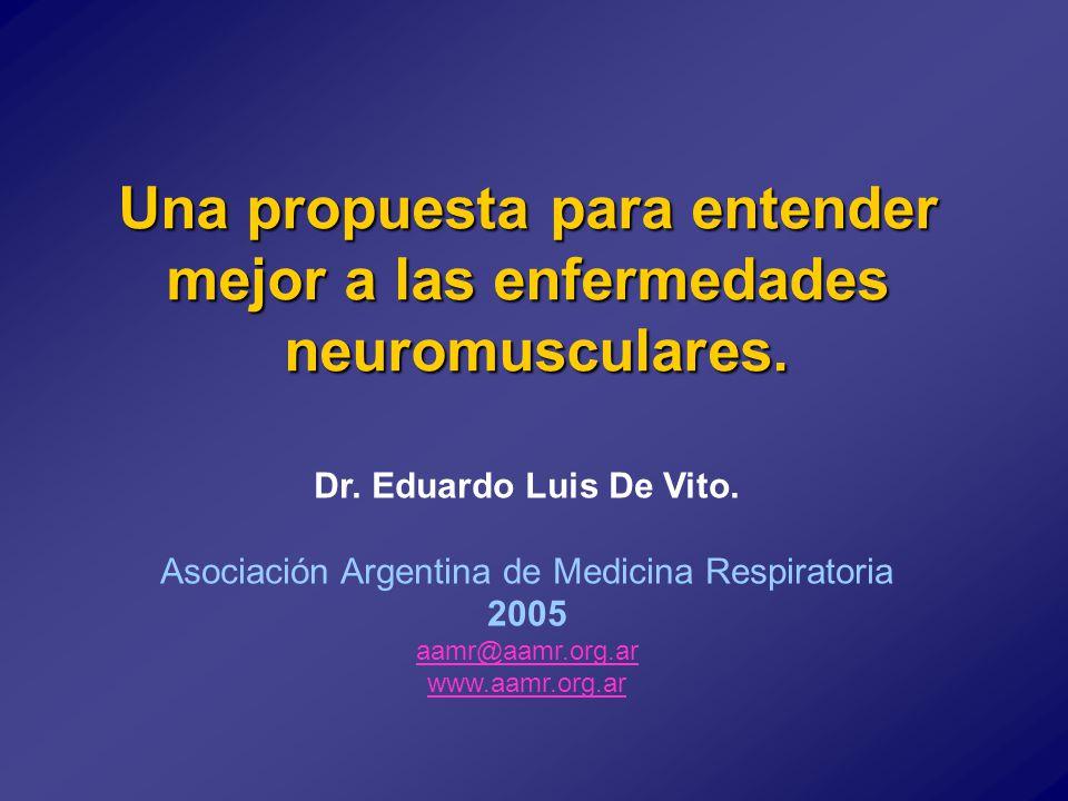 Una propuesta para entender mejor a las enfermedades neuromusculares.